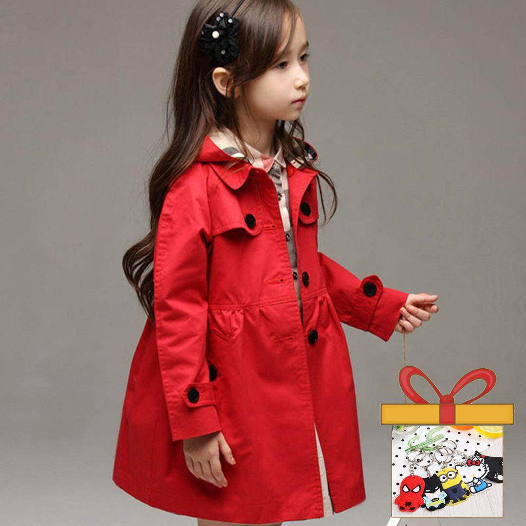bfab7e47 Children Clothing Kids Toddler Cotton Jean Jackets Spring Autumn Princess Trench  Coats Hoodie Outwear Costume