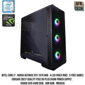 Gaming Design PC Intel Core i7 Nvidia Geforce Gtx 1070 8Gb GDDR5 8gb RAM Cpu Desktop