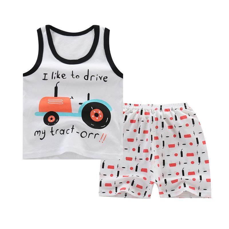 2019 Summer New Childrens Cotton Sleeveless T-Shirt Shorts Set Boys And Girls Baby Clothes By Sweet Kids Store.