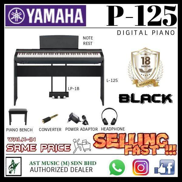 Yamaha P-125 88-Keys Digital Piano Saver Package (P125 / P 125) Malaysia