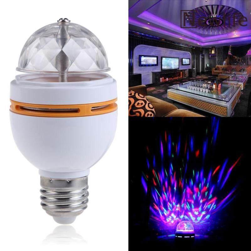 Bóng Đèn LED Pha Lê Disco Xoay Sân Khấu RGB Nhiều Màu E27 Mới