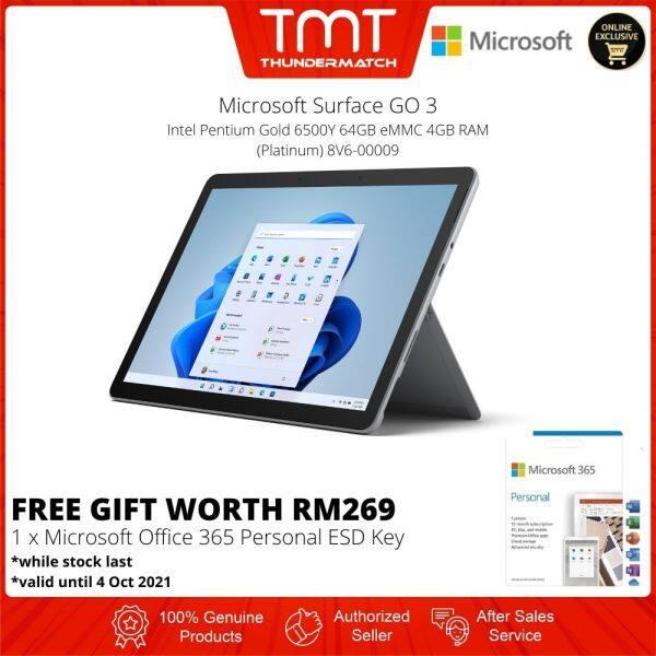 [Pre-Order] Microsoft Surface GO 3 Platinum | Intel Pentium Gold 6500Y | 4GB RAM 64GB eMMC | 10.5 Touch | Intel UHD 615 | 1 Year Warranty | Windows 11 (8V6-00009)(ETA:5-Oct-2021) Malaysia