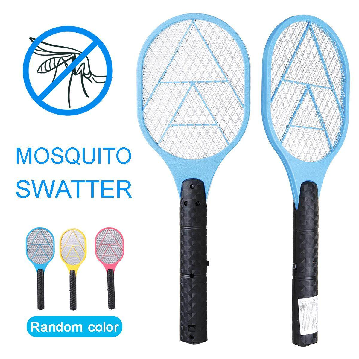 Electric Bug Zapper Racket Mosquito Insect Fly Swatter 3 Metal Mesh Handheld
