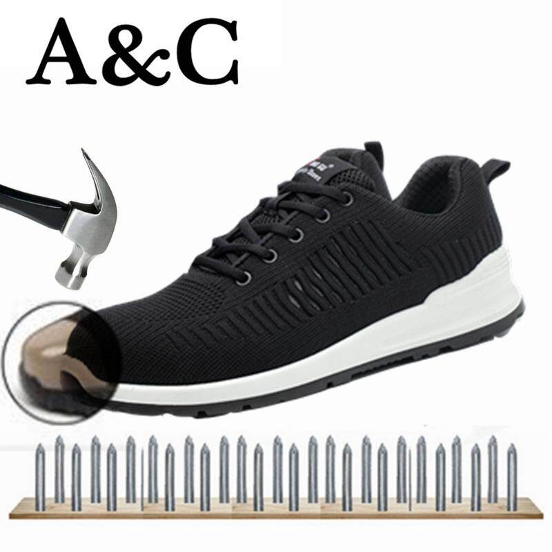 A&c Mens And Womens Protective Shoes Work Shoes Flood Prevention And Puncture Anti-Slip Safety Shoes Safety Protection Breathable Waterpoof Wear-Resisting【free Shipping】 By A&c Official Store.