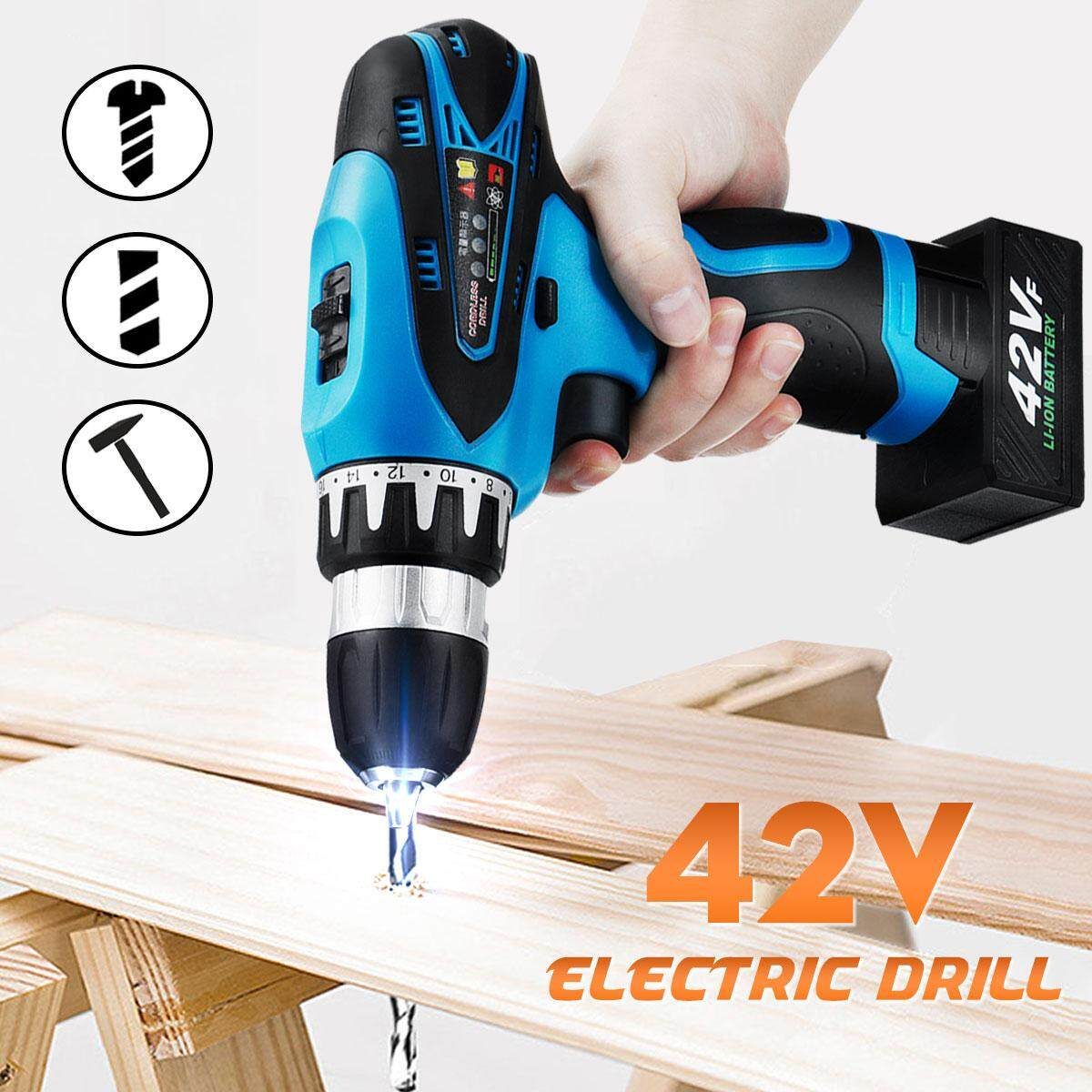 42V 2-Speed 3/8 18+1 Torque Cordless Rechargeable Electric Drill Screwdriver