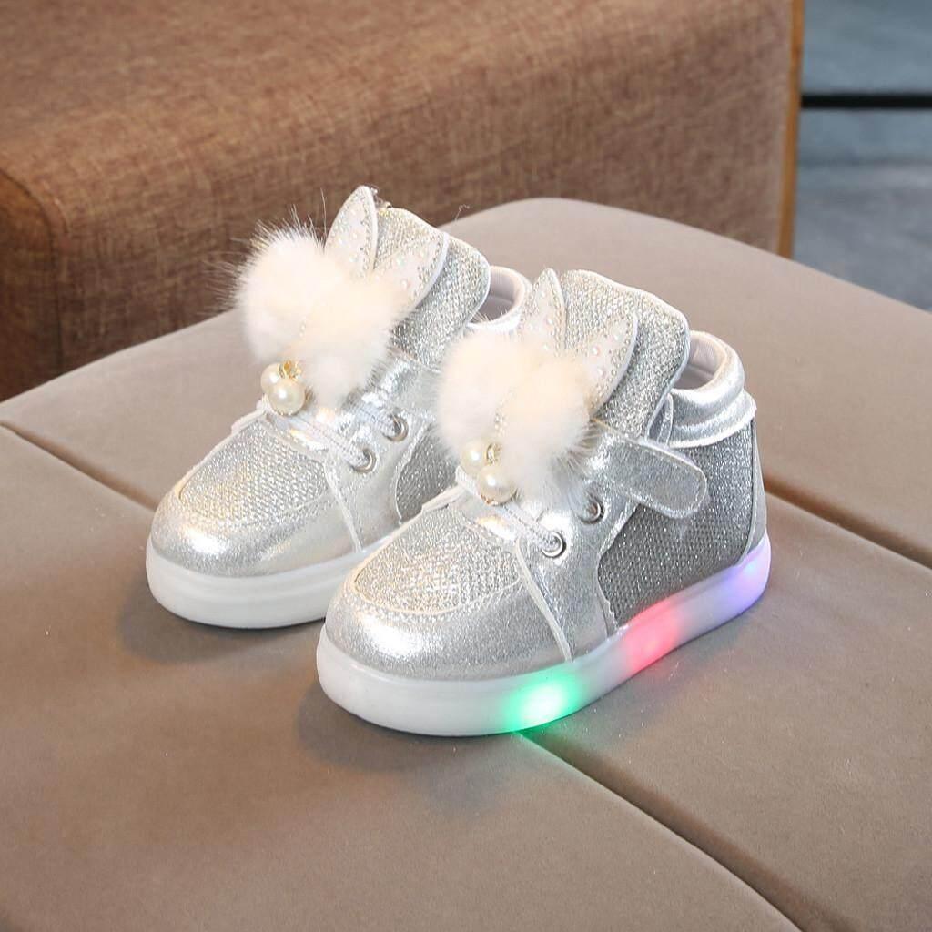 Giá bán CocolMax oddler Trẻ Sơ Sinh Trẻ Em Cho Bé Gái Hoạt Hình Thỏ Màu LED Giày Thể Thao Sneakers
