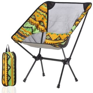 Outdoor Folding Chair New Portable Ultra-Light Aluminum Alloy Chair Fishing Camping Stool Folding Stool Seat thumbnail