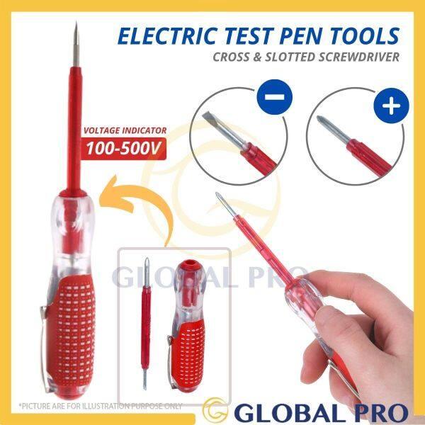 PH 17151A 2 In 1 (+) (-) Rubber Sleeve 100V-500V Voltage Detector Electrical Test Pen Screwdriver Tester Testpen