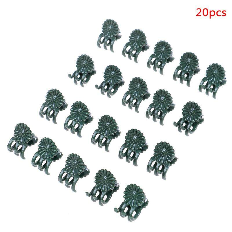 Amango 20/30/40pcs Plant Support Daisy Garden Orchid Clips Vines Grow Upright Clip Set