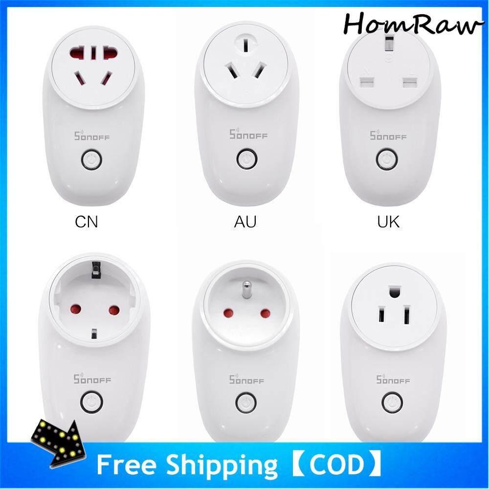 Homraw Sonoff S26 Wifi Thông Minh Plug【cod】【free Shipping】eu/Mỹ/Anh/Trung Quốc/Âu Mới Shop Bán Hàng Lớn Giảm Giá giá