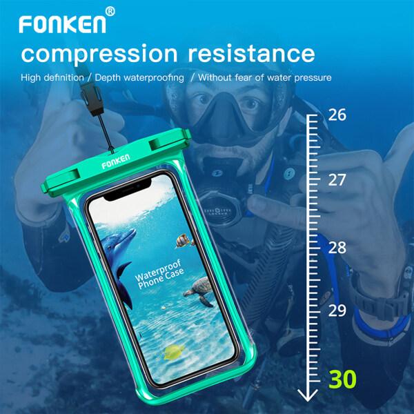 Fonken Ốp Chống Nước Derisplay Đầy Đủ Túi Khô Túi Đựng Điện Thoại Ốp Cho Iphone Samsung Có Dây Buộc