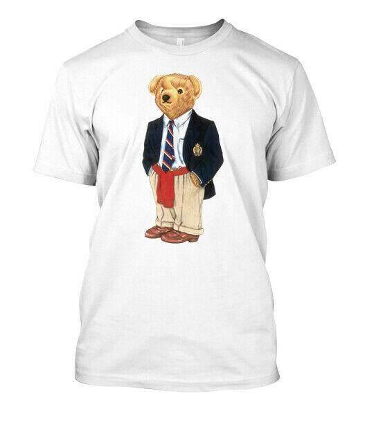 Ralph0087 Lauren Polo Bear White T-Shirt New Besst..!