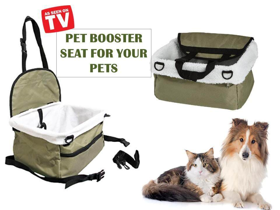 Pet Booster Seat Travel Canvas Pet Booster Seat Dog Car Seat Pet Carrier - Metallic Green By Idealstore.