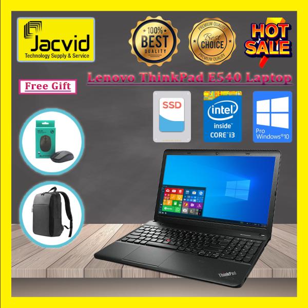 Lenovo ThinkPad E540 15.6 Laptop (I3 (4th Gen) 4000M/4GB RAM/256GB SSD) Grade A *Free Wireless Mouse & Laptop Bag Malaysia