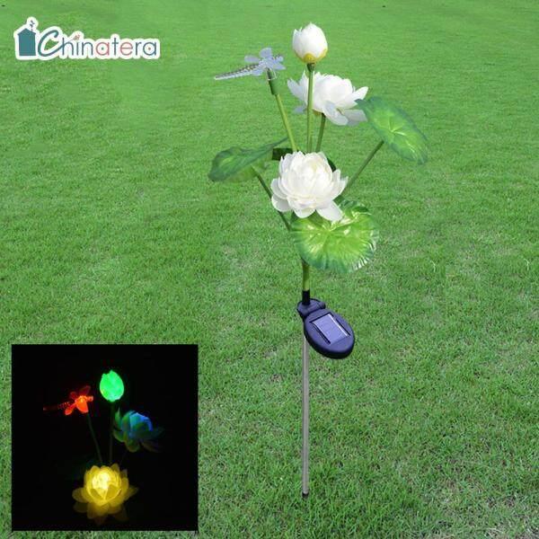 [Chinatera] Đèn LED Năng Lượng Mặt Trời Đèn Cỏ Hoa Sen Chuồn Chuồn Đèn Sân Vườn Chống Nước Đèn Cọc Trang Trí Sân Vườn Nghệ Thuật Cảnh Quan