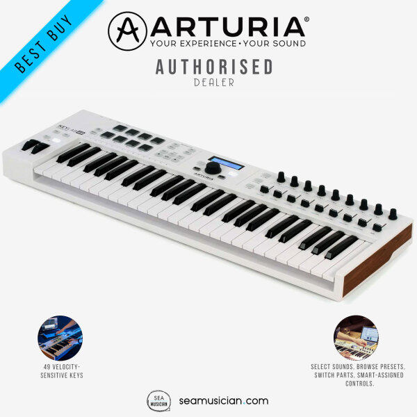 ARTURIA KEYLAB ESSENTIAL 49 KEYS MIDI CONTROLLER KEYBOARD (49-KEYS/ RECORDING MUSIC/ SEAMUSICIAN) Malaysia