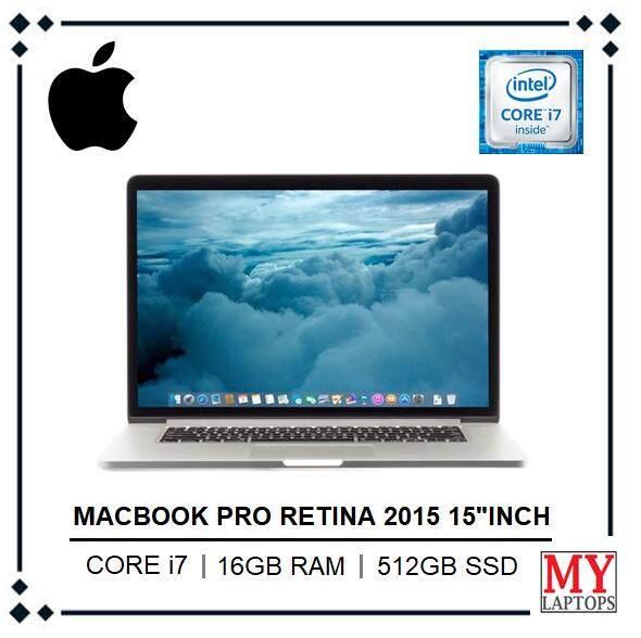Mac Book Pro Retina 2015 15.4 Inch / intel core i7 / 16gb Ram / 512gb ssd pci-e / Intel iris Pro (2880 x 1800) / Mac Os Mojave Malaysia