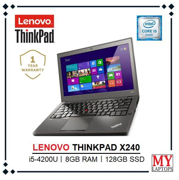 LENOVO THINKPAD X240 INTEL CORE i5 -4200U TURBO BOOST 2.60GHz / 8GB DDR3 RAM / 128GB SSD /INTEL HD GRAPHIC /12.5  HD DISPLAY/ ULTRABOOK/ WIN10 PRO/ 1YEAR WARRANTY Malaysia