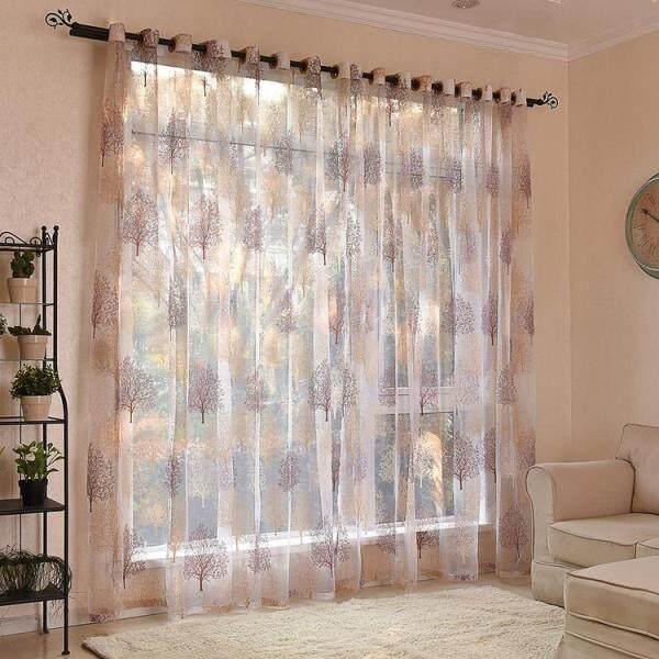 Rèm Voan Cây Hoa 100X250 Cm, Rèm Voan Phòng Khách Phòng Ngủ
