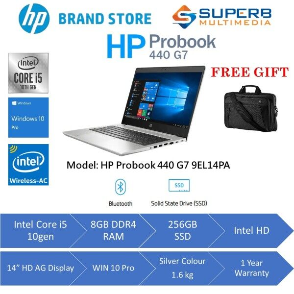HP PRO BOOK 440 G7 NOTEBOOK - 9EL14PA ( INTEL I5 - 10210U / 8GB RAM / 256GB SSD / 14 FHD / NO ODD / WIN 10 PRO / 1YR WARRANTY ) Malaysia