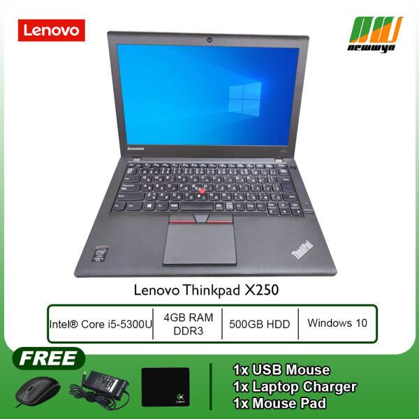 (Refurbished Notebook) Lenovo Thinkpad X250 / Intel Core i5-5300U / 4GB RAM / 500GB HDD / WIN 10 PRO Malaysia