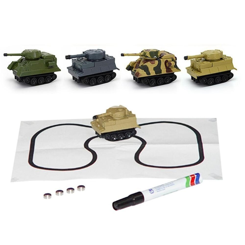 Inductive Tank Toy Automatic Novelty Follow-Line You Draw Car(random Style) By Ttnight Official Store.