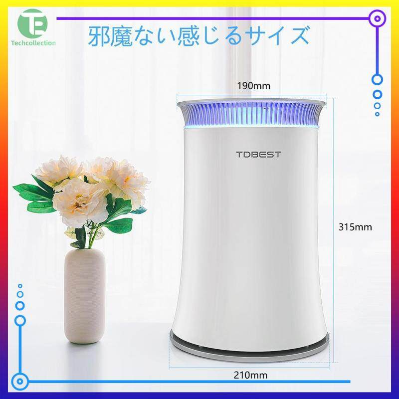TDBEST RH-AD06 Air Purifier Smoke Odor Dust Remove HEPA Filter Allergies Eliminator Home Air Cleaner with AQI Light Singapore