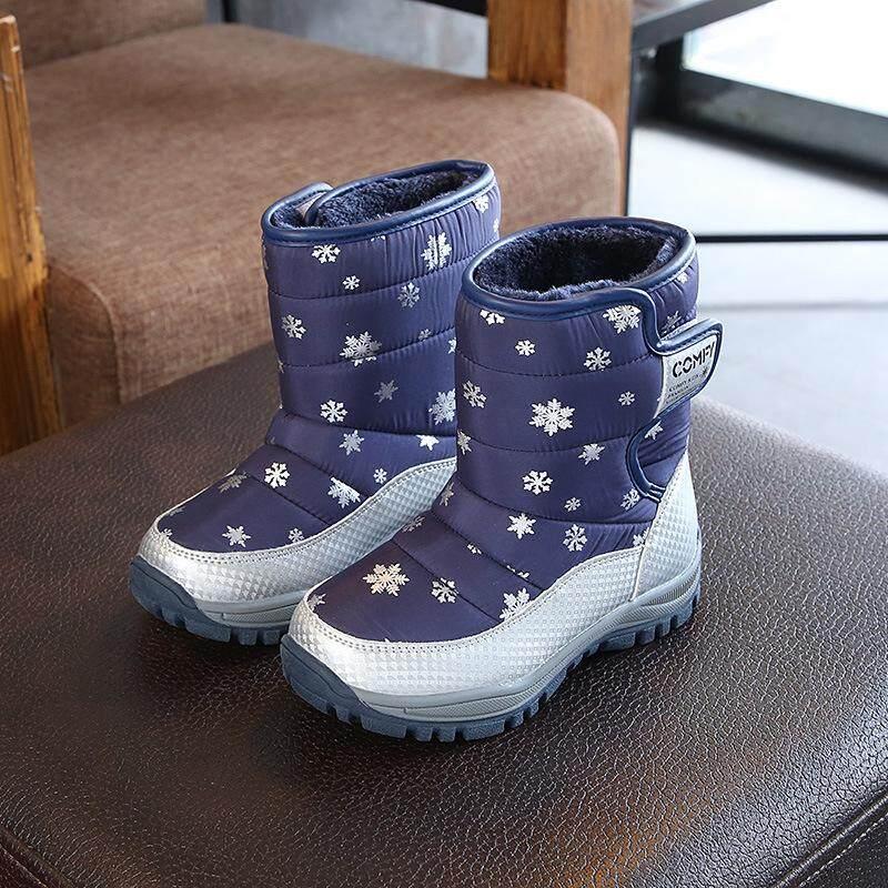 Giá bán Chiến Thắng Mới Trai và Bé gái giày Bé dày bông ấm áp chống trượt trẻ em cotton shoes【READY CỔ- cao Quality】