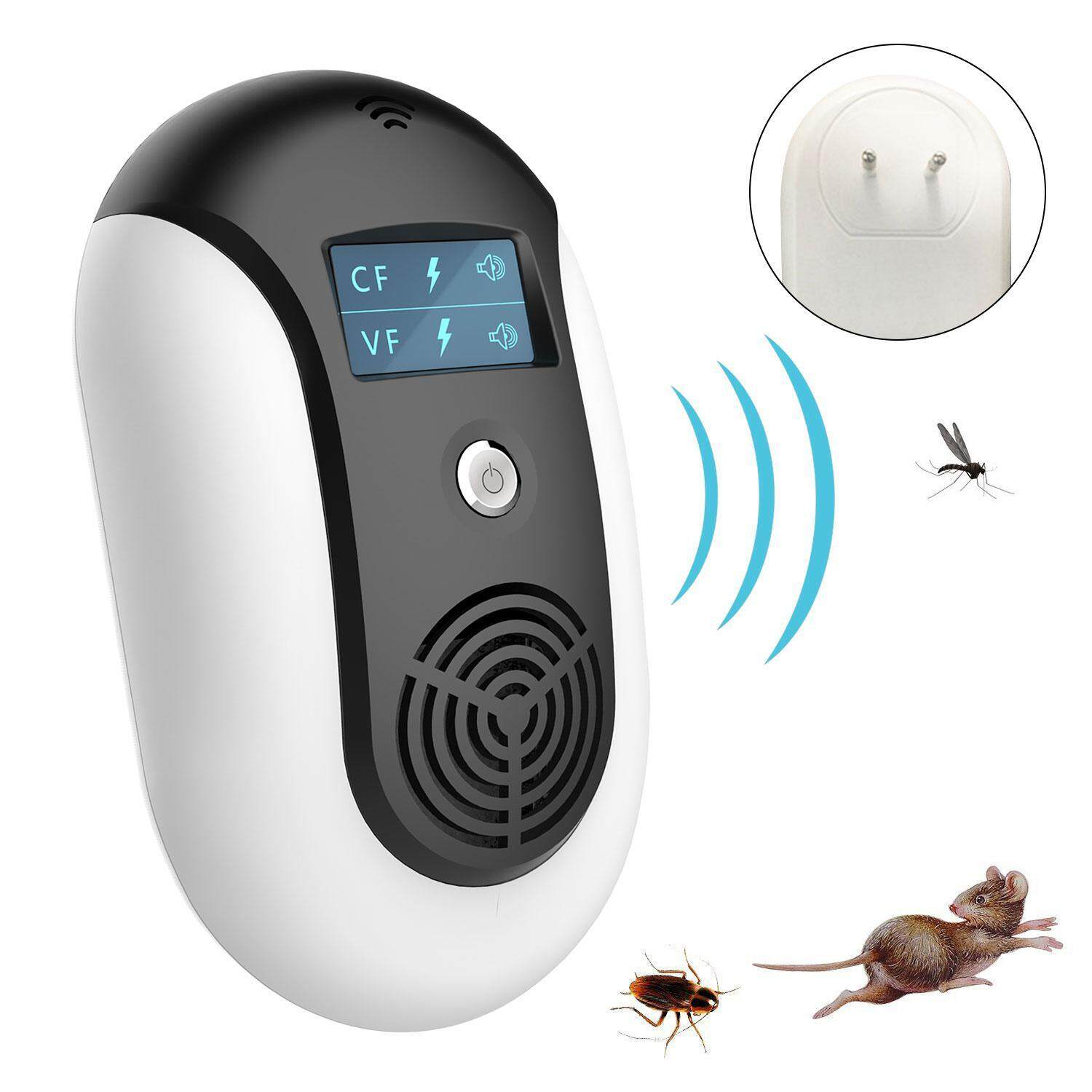 EterSummer Ultrasonic Electromagnetic Pest Repellent Electronic Control Smart Mosquito Repeller Plug in Home Indoor and Warehouse Get Rid of bug,rats,squirrel,Flea,Roaches,Rodent,Insect image on snachetto.com
