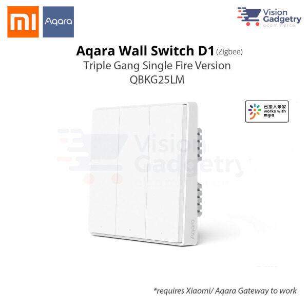 Xiaomi Aqara Smart Home Switch D1 Wall Plug Triple Gang Single Fire ZigBee QBKG25LM