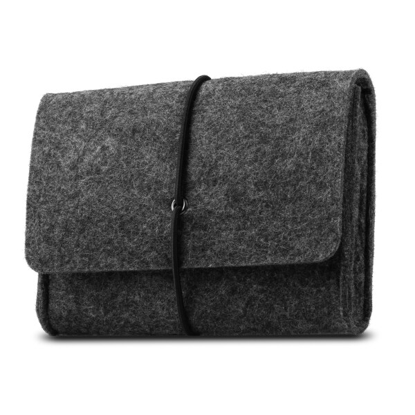Soogold 2020 NEW Felt Storage Case Bag Accessories Organizer for MacBook Laptop Mouse Power Adapter Cables Computer Electronics Cellphone Accessories Charger SSD HHD