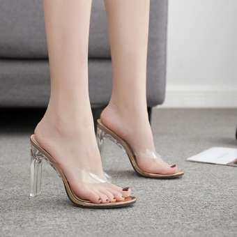 ผู้หญิงคลิปคลิปรองเท้าแตะแฟชั่น SLIP - ส้นสูง-