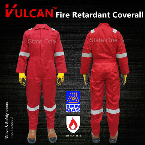 VULCAN Red Colour Fire Flame Resistant Retardant SIRIM Approved / FRC Coverall Clothing Overall Workwear Safety Equipment / PPE 防火工作全套衣服