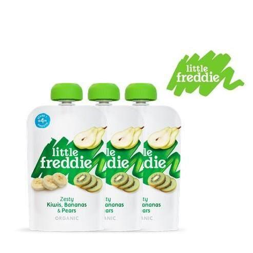 Little Freddie Organic Pouches (4m+) Kiwi, Banana & Pear 100g X 3