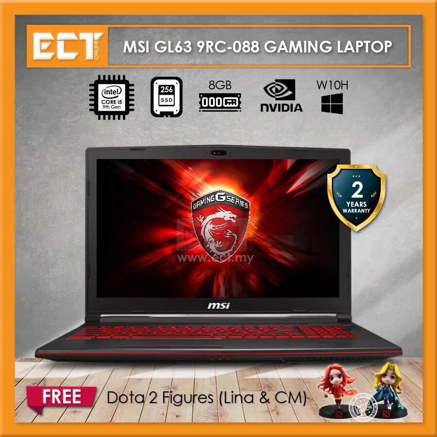 MSI GL63 9RC-088 Gaming Laptop (i5-9300H 4.00GHz,256GB,8GB,GTX1050-4G,15.6 FHD,W10) Malaysia