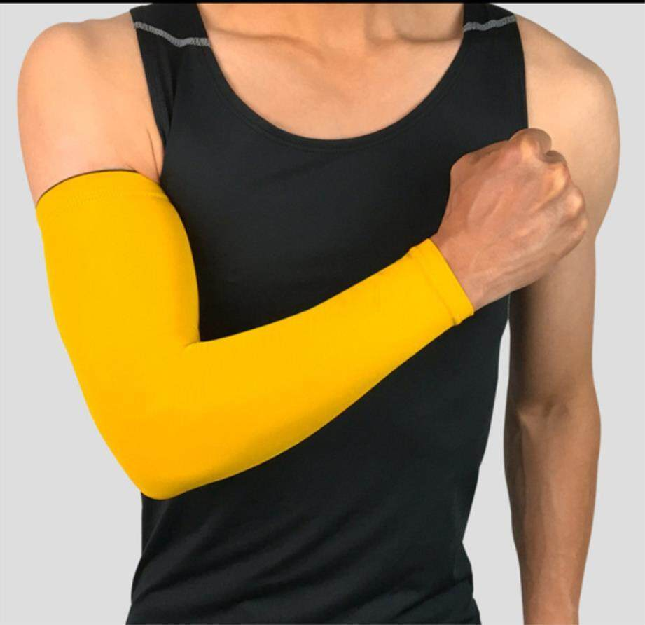 Men's Accessories Running Arm Sleeves Basketball Elbow Pad Fitness Armguards Breathable Quick Dry Uv Protection Sports Cycling Arm Warmers