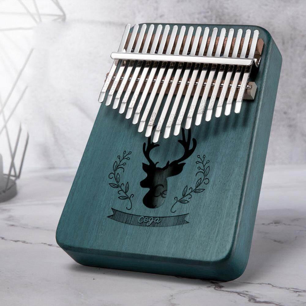 17 Phím Kalimba Gỗ Ngón Tay Cái Đàn Piano Chắc Chắn Gỗ Gụ Cơ Thể W/1 CHIẾC Tunning Búa 1 Khăn Lau