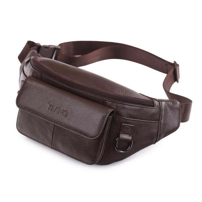 Aolvo Mens Genuine Leather Belt Bag - Phone Holster Waist Pouch / Phone Bag Small Travel Crossbody Shoulder Bag Purse For Men