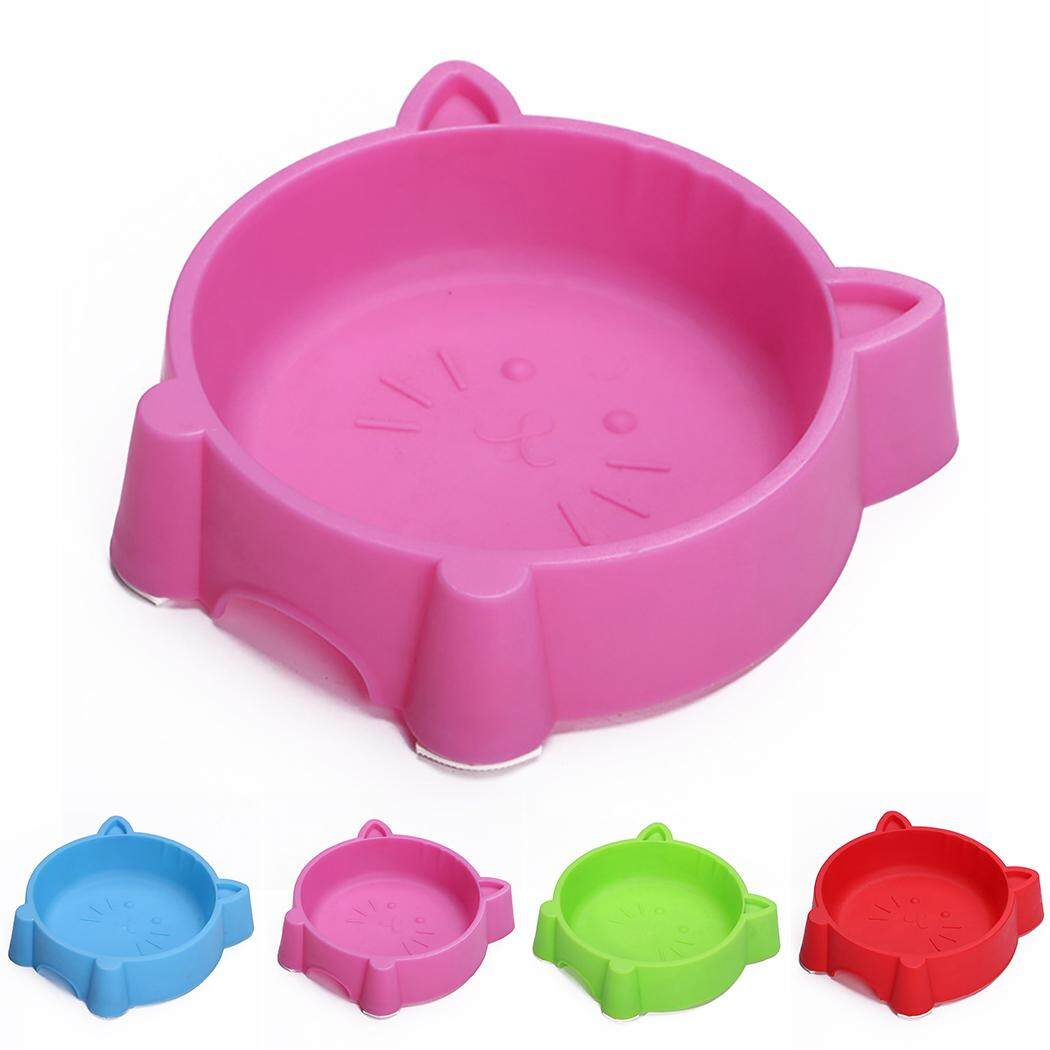 Pet Bowl Creative Portable Plastic Cat Face Multipurpose Cat Bowl Dog Bowl, Pink By Five Star Store 2zz.