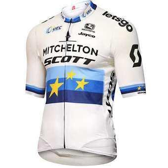เสื้อแข่งจักรยานสำหรับผู้ชาย MAGLIA MITCHELTON SCOTT FR-C PRO 2019 เสื้อเชิ้ต-