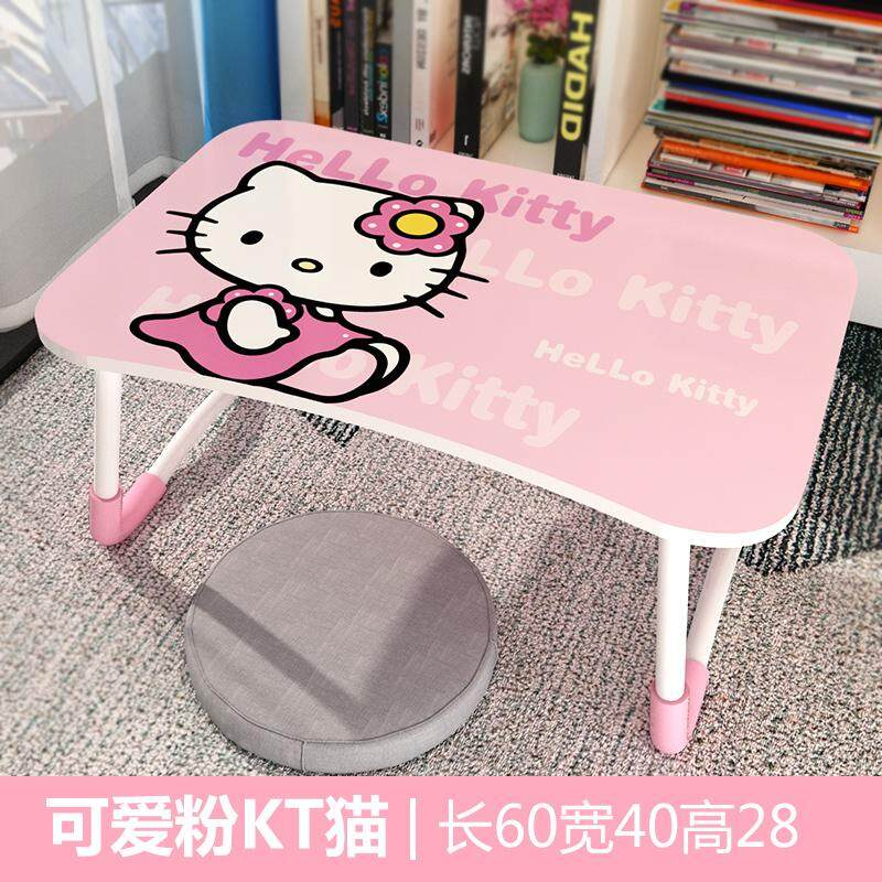 Bed Small Table Folding Dormitory Girls Students Desk Computer Bedroom Lr Zhuo Bed Bedroom With Cartoon Children