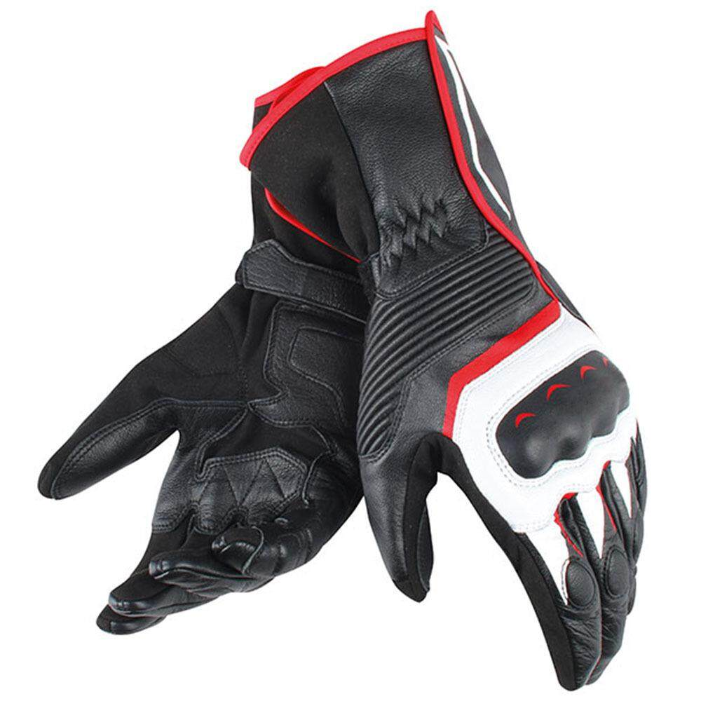 Long gloves Motorcycle Leather gloves Hard shell racing Cycling anti-fall waterproof gloves non-slip