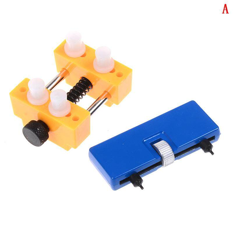 Adjustable Rectangle Watch Back Case Cover Opener Remover Wrench Repair Kit  A Malaysia