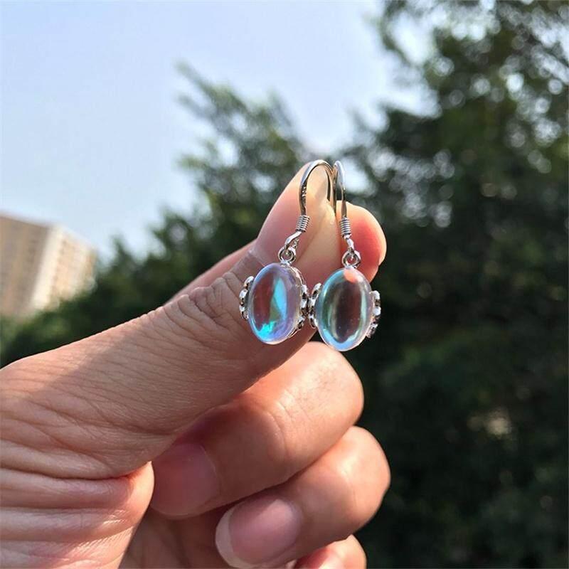 Women Fashion Five Colored Moonstone Earrings Sweet Delicate Crystal Earrings Dangle Earring Gifts Vintage Drop Earring