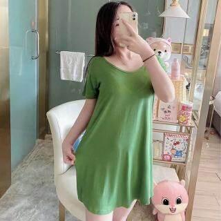 IHOME Cuộc Sống Áo Choàng Tắm Silk Nữ Đồ Ngủ, Áo Choàng Cotton Mềm Ngoại Cỡ Hàn Quốc Áo Ngủ Trên Bán Đèn Nhà Gợi Cảm Thời Trang Áo Ngủ Tay Ngắn Dáng Rộng 2021 Mới thumbnail