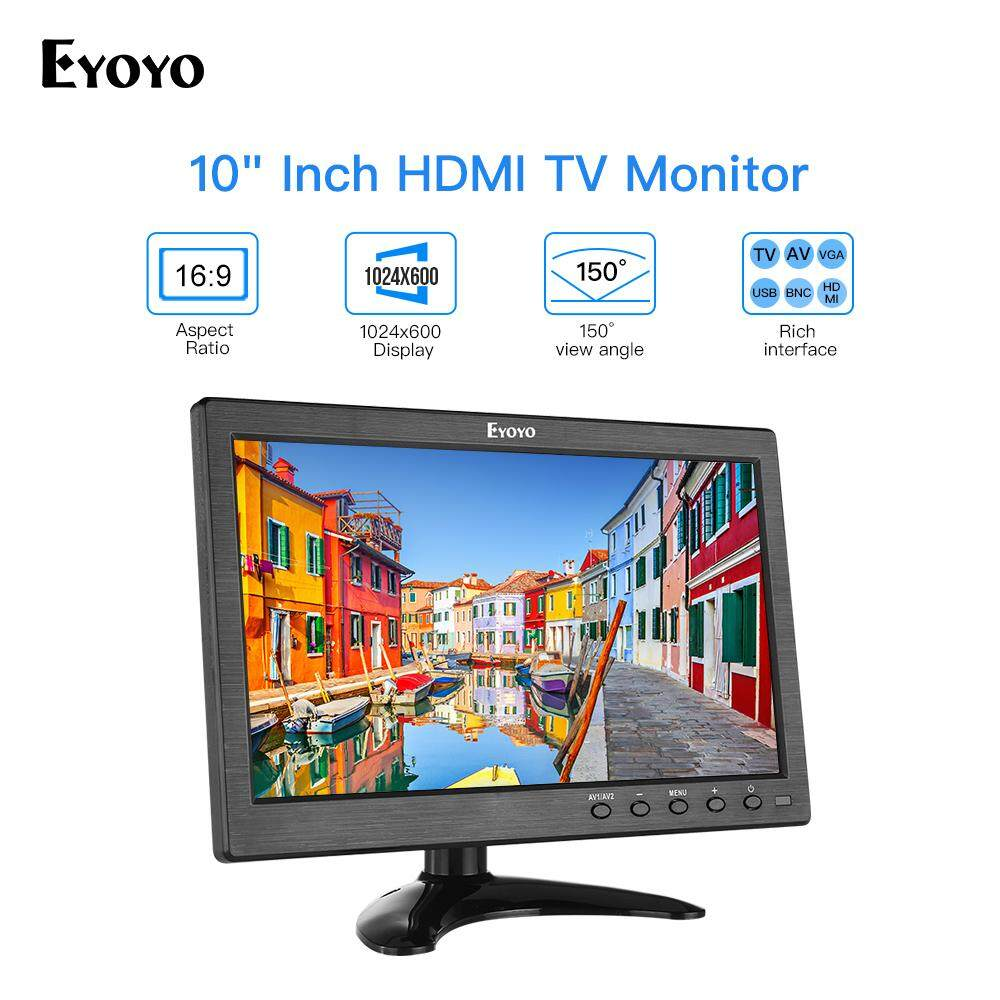 Eyoyo 10 inch Small TV Monitor HDMI Portable Kitchen TV for DVD PC CCTV Security Camera Raspberry Pi Malaysia