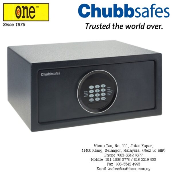 Chubbsafes : Air Hotel Safe & Home Compact Safebox Secured with Electronic Lock and Key