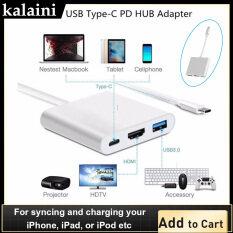 UBS 3.1 Type-C Đến 4K HDMI USB 3.0 HUB Cổng Sạc USB-C Cáp Chuyển Đổi OTG