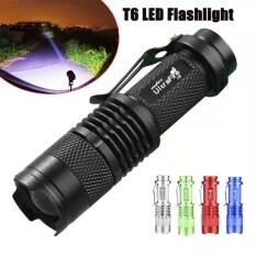 Các Chế Độ 50000LM Đèn Pin LED Đèn Pin Có Thể Phóng To T6 Với Clip Sử Dụng Cho Cắm Trại Leo Núi Và Các Hoạt Động Ngoài Trời