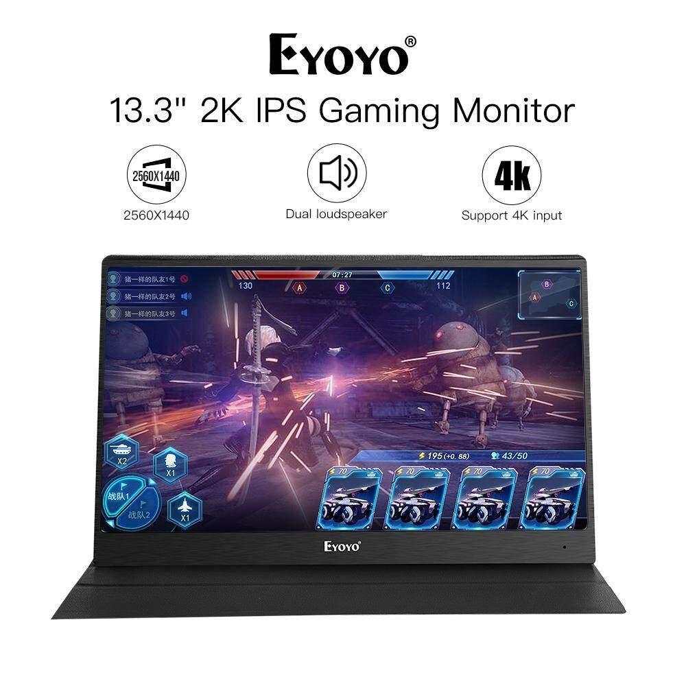 Eyoyo 13 Portable PC Gaming Monitor, 2540x1440 High Resolution IPS Game Monitor with HDMI Input for Xbox One Xbox 360 PS3 PS4 WiiU Switch Raspberry Pi 3, 2 1 Model B B+ w/ Built-in Speakers Malaysia